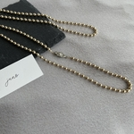 gold ball chain necklace 4mm