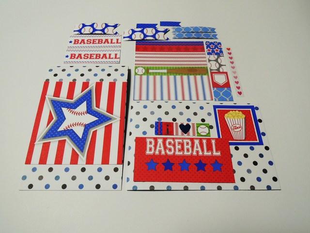 ★組み合わせ自由★カード & デコレーション素材2セット <291>*野球*