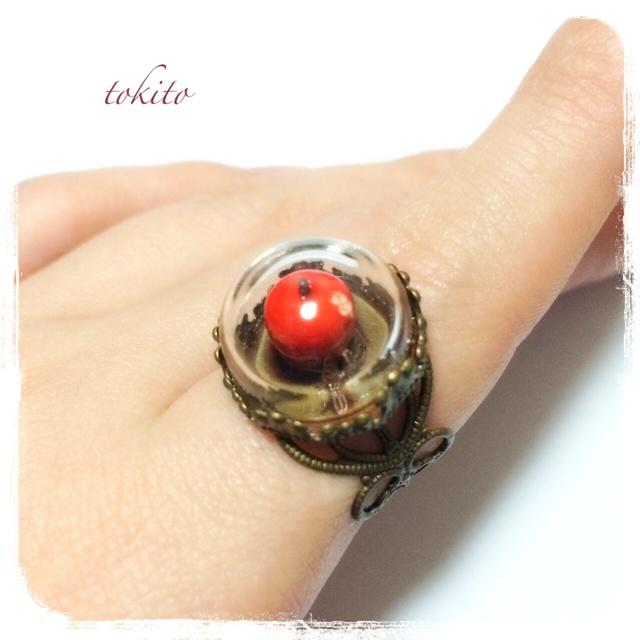 白雪姫の囓った毒りんごの指輪*赤