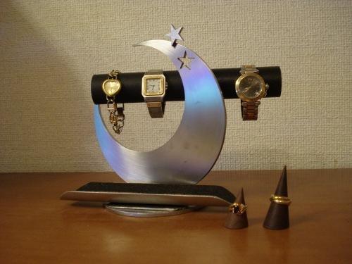 ブラック飛び出す★腕時計スタンド トレイ&指輪スタンド未固定バージョン