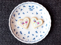 ハート×お花 Icing cookie brooch