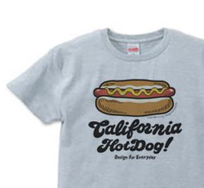 カリフォルニア☆ホットドック  XS(女性XS〜S) Tシャツ【受注生産品】