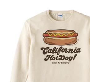 カリフォルニア☆ホットドック  長袖Tシャツ【受注生産品】