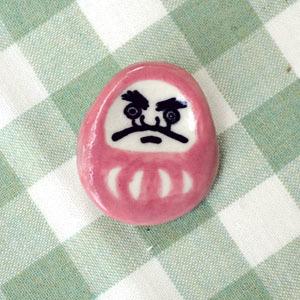だるまピンブローチ(ピンク)