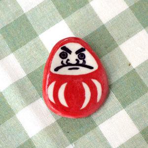 だるまピンブローチ(赤)