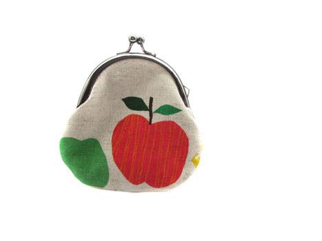 がま口★赤いリンゴ