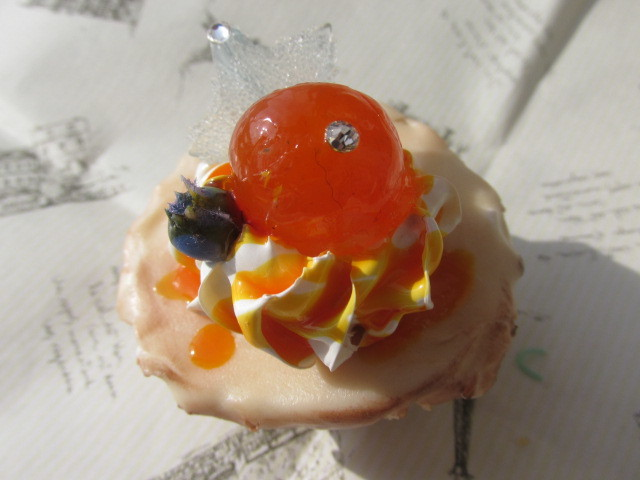 ミニ・カップケーキのマグネット ゼリーのせ スイーツデコ