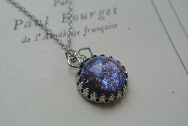 再再販 紫のドラゴンズブレス アイリスパープル 大サイズ ネックレス