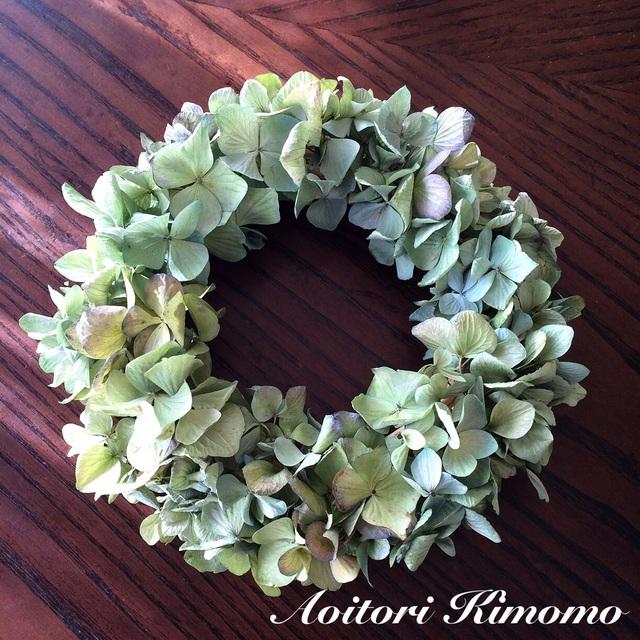 尾瀬紫陽花のシンプルリース