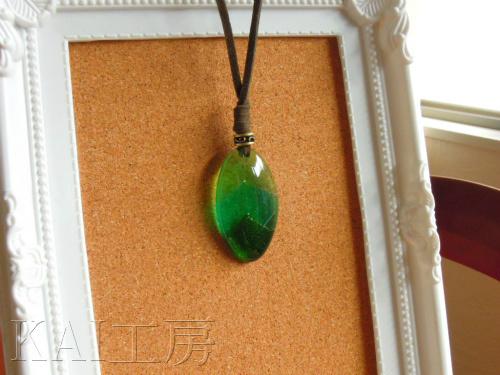 Green leaf のペンダント