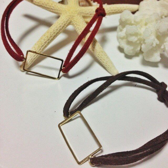 SHIKAKU Bracelet ワインレッド