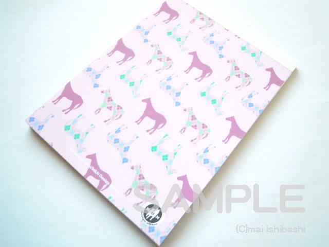 馬のイラストメモ帳(ピンク)