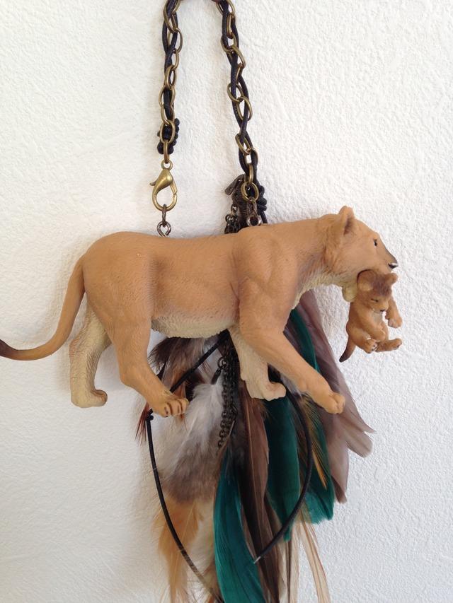 ライオンのバッグチャーム