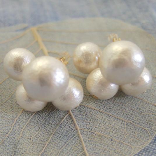 【再販】Cotton pearl 2wayピアス