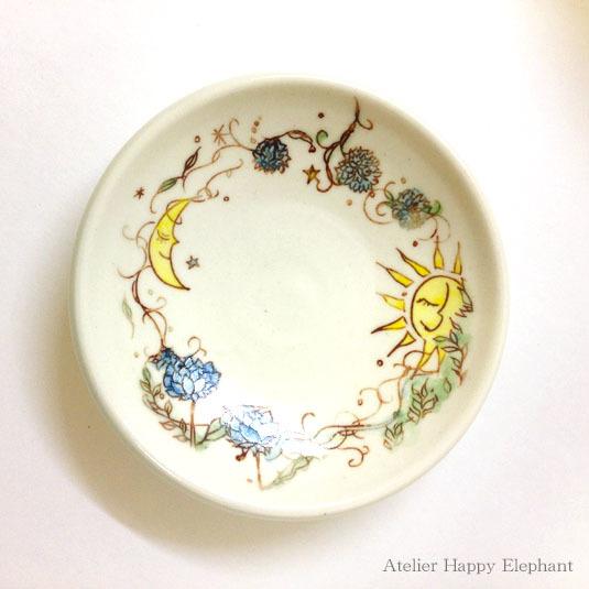 ふたご皿 《太陽x月》 & 《お花xしずく》