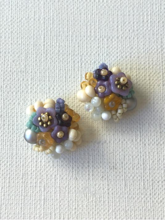 花と木の実イヤリング/petal