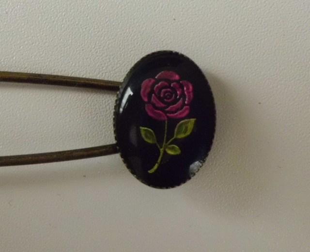 薔薇のストールピン