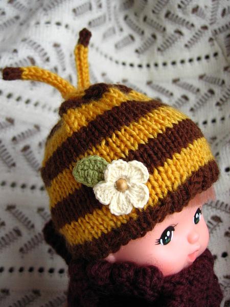 メルちゃん ミツバチ帽子