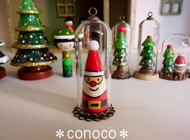 *クリスマス*ガラスドーム*サンタさん