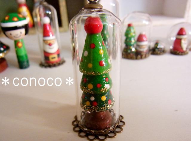 *クリスマス*ガラスドーム*ツリーA