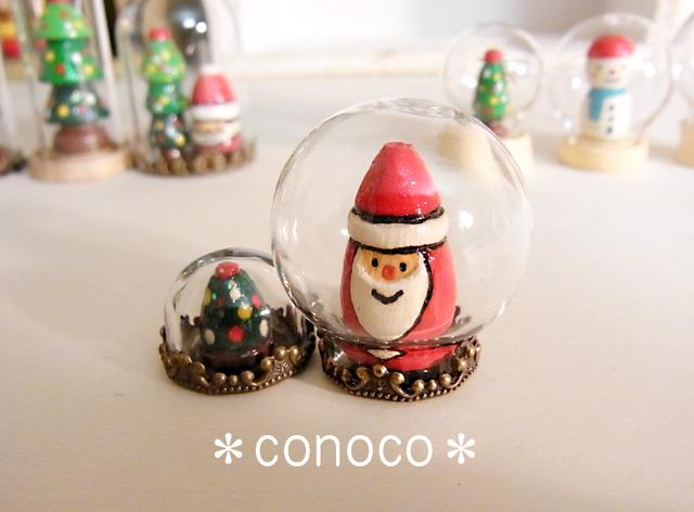 *ガラスドーム*サンタ&ツリーminiセット