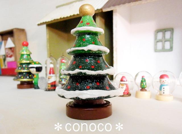 雪つもる*シンプルなクリスマスツリー*