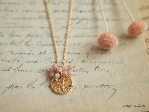 Lace charm necklace