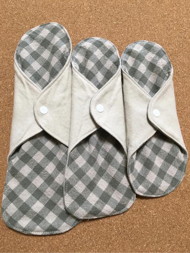 ☆SALE 草木花染(ヨモギ)布ナプキン3枚セット