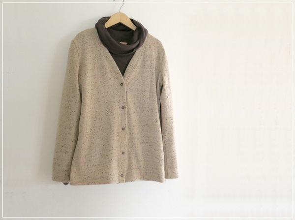 wool knit* Vネックカーディガン