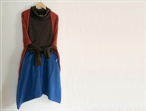 blue*  ヘムライン バルーンスカート+リバティ