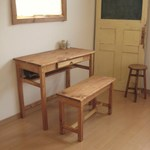 wide drawer DESK & BENCH pine