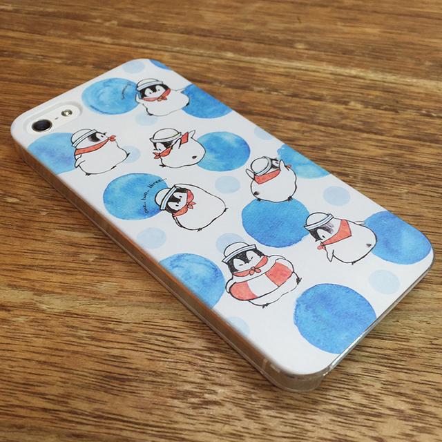 iPhoneハードケース 水兵さん-水玉