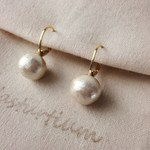 10mm cotton pearl french hook pierce(Kisuka)