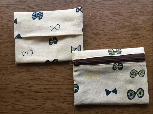 【再販5】ティッシュ入れつきポーチ 北欧風リボン柄