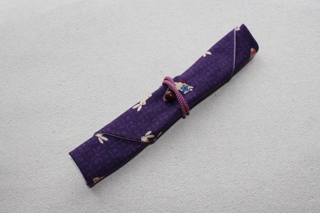 my箸ケース(パープル系うさぎ柄)