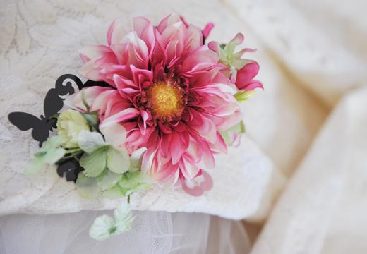 大輪ダリアの花かざり