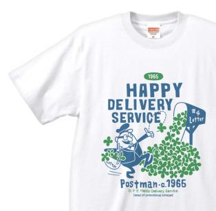 クローバー&ポストマン 片面B柄    XS(女性XS〜S) Tシャツ【受注生産品】