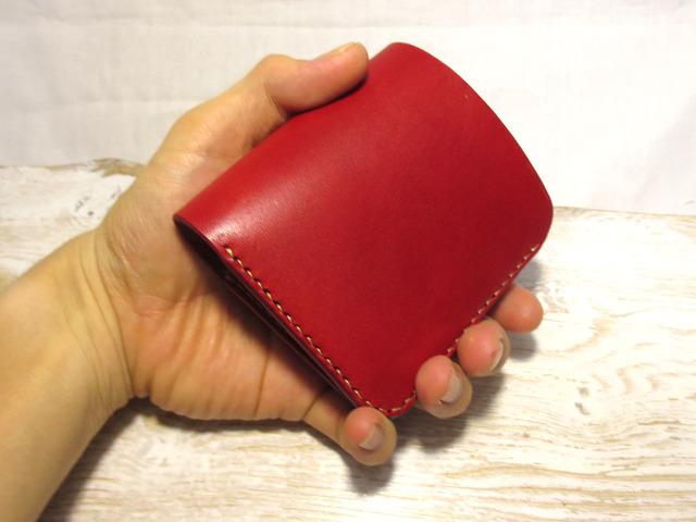 8f0099bf83b4 ミニマムウォレット「milet」赤 レザー | ハンドメイドマーケット minne