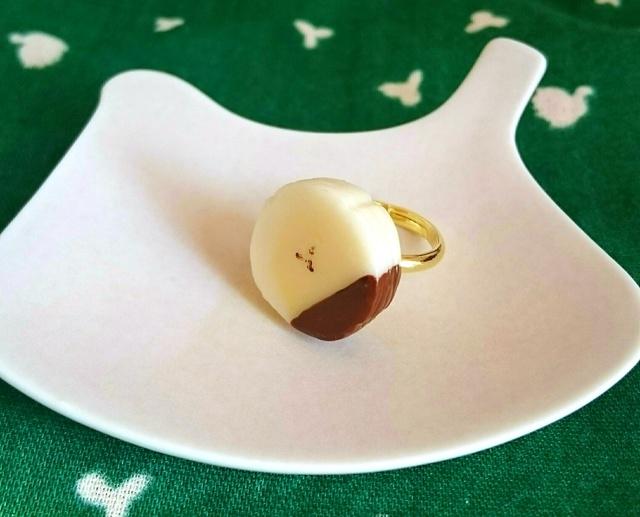 チョコがけバナナのリング