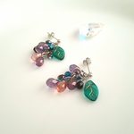 【SV925】ぶどうピアス shining grape earrings【ESMÉ】