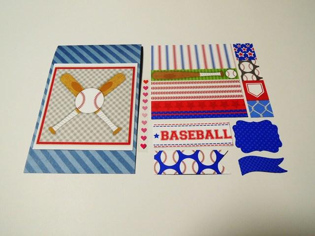 再販★レイアウト自由★カード&デコレーション素材<293>野球C