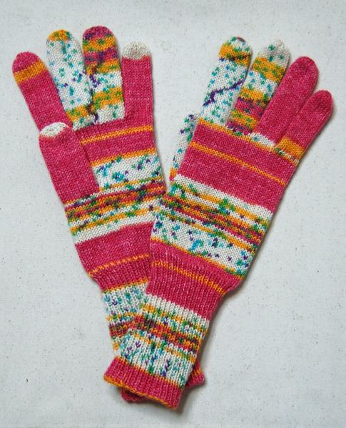 手編み5本指手袋 No.13【再販】