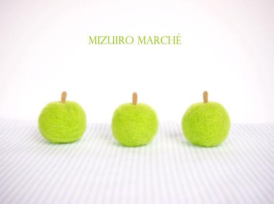 【再販】羊毛フェルトの青りんご