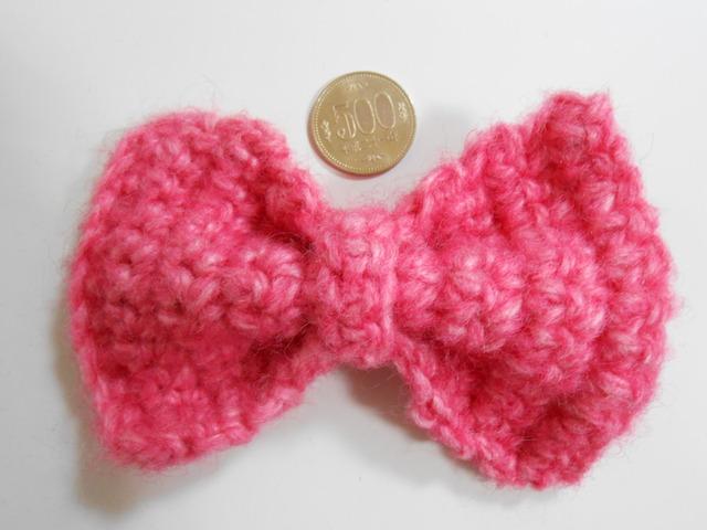 フユーシャピンク毛糸のリボン