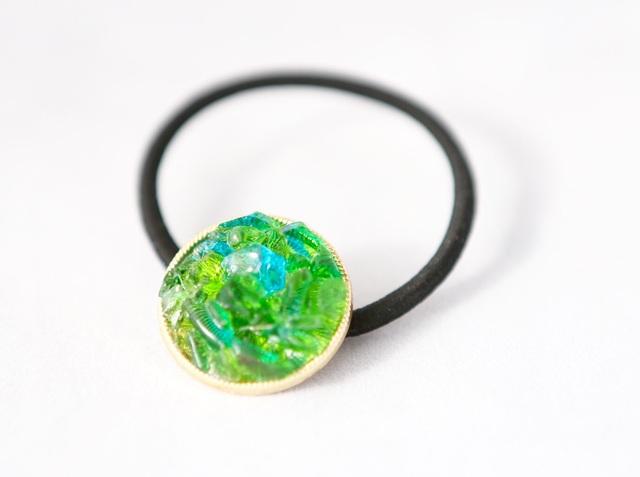 琉球ガラスのヘアゴム(Green)