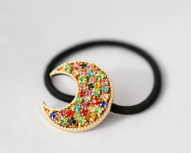 月のきらめき ヘアゴム【jewelry】
