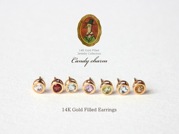 14KGF Candy charm ピアス/1個売り
