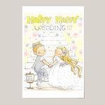 ポストカード Happy Happy Wedding!!! (spc-019)