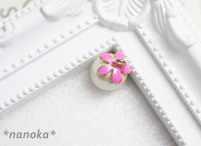【NEW】 フラワーコットンパール(ピンク)