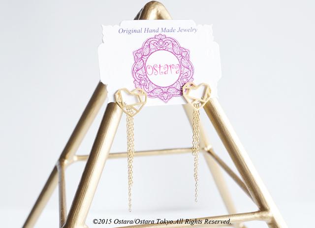 ��16KGP��Stud Chain Fringe Earrings,